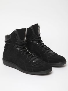 Maison Martin Margiela 22 Men's Black High Top Sneaker