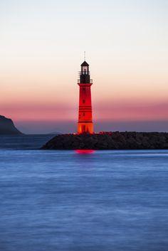 Lighthouse in Bodrum Turgutreis, Turkey