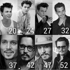 Johnny Depp throughout the years. He looks better now (he turned 53 today! He seems healthier and Happier (and looks hotter) Johnny Depp Quotes, Johnny Depp Movies, Johnny Depp Tattoos, Young Johnny Depp, Here's Johnny, Johnny Depp Age, Junger Johnny Depp, Rock Argentino, Fangirl