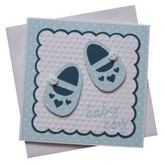 Lots of inspiration here to make cards--love those little shoes.  Handmade New Baby Boy Card £1.80