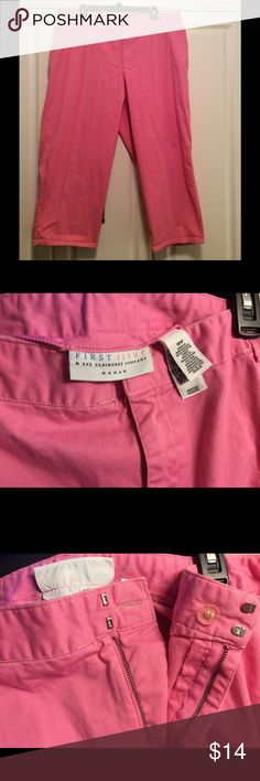 18W Pant - First Issue by Liz Claiborne Comfy & cute size 18W pant with button plus hook closure and elastic @ back of waist .  33 inches long Liz Claiborne Pants