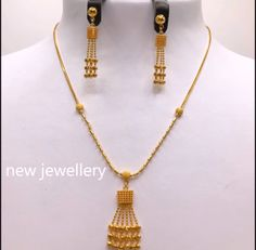 Light weight gold necklace sets - The Handmade Crafts Real Gold Jewelry, Gold Wedding Jewelry, Womens Jewelry Rings, Indian Jewelry, Diy Jewelry, Jewelry Bracelets, Gold Chain Design, Gold Jewellery Design, Necklace Set