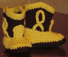 Baby Cowboy Booties Free Crochet Pattern