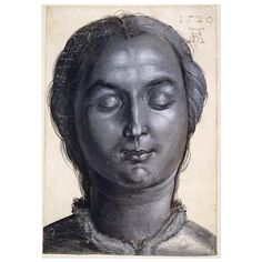Albrecht Dürer was born #onthisday in 1471. Here's his wonderful drawing of a woman from 1520. This study is drawn with a brush in black and greybodycolour. The light is strongly shown by white heightening when it falls onto the woman's face and hair. The light falls down the exact centre of her face. On the left, only the protruding eyelid and cheek bone catch the light. Her eyes are closed and her head centred, its outline strongly marked by black line and silhouette. By 1520, the date of…