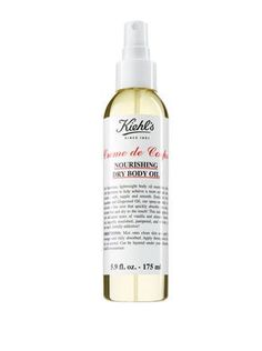 Creme de Corps Nourishing Dry Body Oil – Dry Body Oil Spray – Kiehl's Best Body Oil, Dry Body Oil, Creme, Cleanser, Moisturizer, Kiehl's Since 1851, Alcohol, Whipped Body Butter, Prunus
