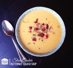 Paleo Slow Cooker Butternut Squash Soup - paleocupboard.com