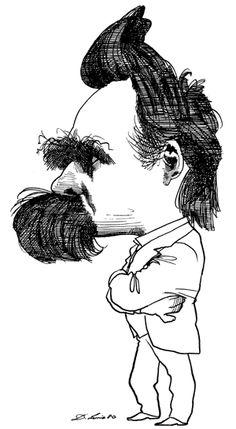 Friedrich Wilhelm Nietzsche, by David Levine