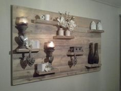 Awesome wooden wall decor made of reclaimed wood. Really stands out in your interior. Love it. Home Decor Ideas Decorations DIY Home Make Over Furniture Decoration Palette, Decoration Bedroom, Diy Home Decor, Wooden Wall Decor, Wooden Walls, Scaffolding Wood, Summer Decoration, Palette Deco, Deco Originale