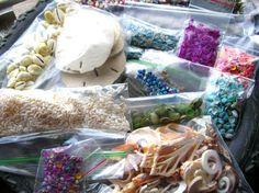 Seashell Jewelry Supplies  Vintage by BohemianGypsyCaravan on Etsy