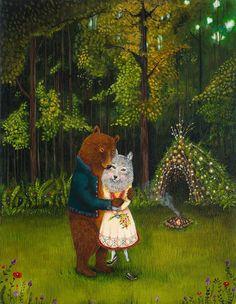 Swept off Her Feet woodland wedding woodland by JahnaVashti