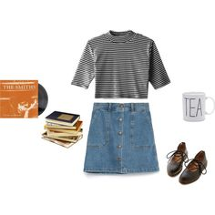 Study date by samarayared on Polyvore featuring polyvore, fashion, style, Zara and Dr. Martens