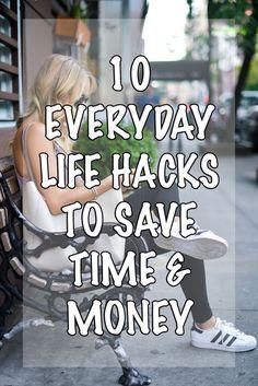 10 Everyday Life Hacks To Save Time & Money via @katiesbliss