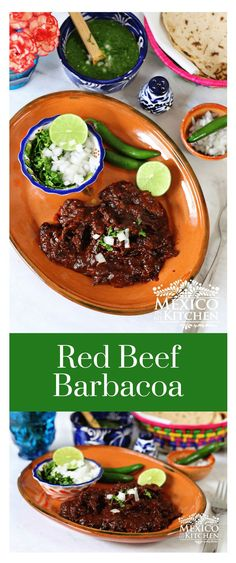 This Red Beef Barbacoa is inspired by a dish that's a favorite in the State of Veracruz and its neighboring states. There are many other recipes all over Mexico that is prepared in a similar way to this Red Beef Barbacoa, but every region makes it their own by adding their unique blend of spices, herbs, and peppers. #mexicanrecipes #mexicanfood #beef #mexicancuisine