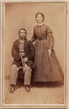Amputee and Wife by Piedmont Fossil, via Flickr (1863)