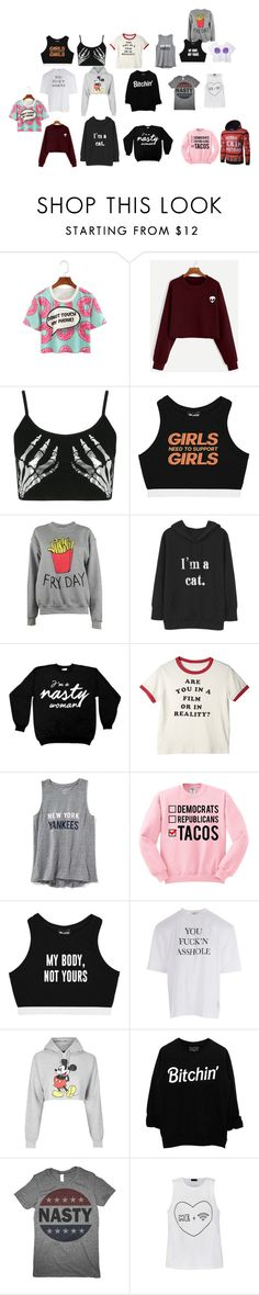 """""""my style"""" by unicornlovewilson on Polyvore featuring Boohoo, Minga, Adolescent Clothing, Old Navy, Vetements, Topshop and Ally Fashion"""