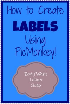 Tutorial: How to Create Labels Using PicMonkey! Craft Business, Business Tips, Create Labels, Organizing Labels, Pantry Organization, Organizing Tips, Wie Macht Man, Printable Labels, Printable Recipe