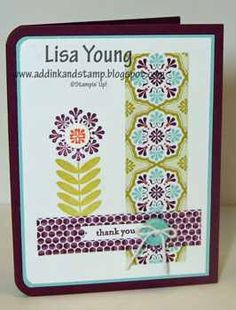 Add Ink and Stamp: Clean and Simple Madison Avenue Sycamore Street, Hand Stamped Cards, Madison Avenue, Stamping Up, Flower Cards, Stampin Up Cards, Paper Design, Birthday Cards, Card Ideas