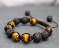 Wholesale Black Volcanic Lava Stone Tiger Eye Beads bracelet For Men Handmade Fashion personality Jewelry Braided Bracelets, Link Bracelets, Bracelets For Men, Fashion Bracelets, Bracelets Design, Jewelry Design, Men's Jewelry, Handmade Jewelry, Jewlery