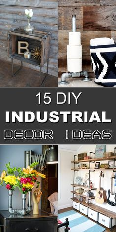 Are you a fan of industrial style? Here are some cool industrial decor ideas you can try!