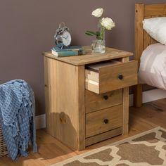 Harold Parker 3 Drawer Bedside Table