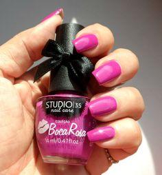 Esmalte Boca Rosa Studio 35 - fúcsia lindo