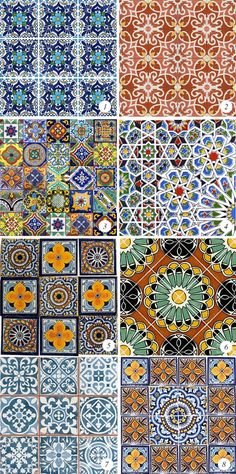 Colorful Moroccan Tiles