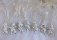 white rococo cherub French chic ornaments hang tags