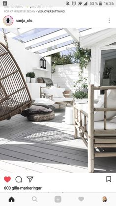 __ my patio ___ longing for summer__ __________________________________________________ Porch And Terrace, Patio Roof, Backyard Patio, Indoor Outdoor Living, Outdoor Areas, Outdoor Rooms, Outdoor Decor, Home Garden Design, Diy Garden Decor