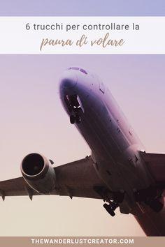 Ti svelo un segreto: 6 persone su 10 hanno paura di volare. Non sei sol*. Scopriamo insieme 6 trucchi per controllarla e viaggiare meglio. #pauradivolare #controllarepauradivolare #consiglidiviaggio #viaggiinaereo #viaggiareinaereo #prenderelaereo Fighter Jets, Aircraft, Wanderlust, Aviation, Planes, Airplane, Airplanes, Plane