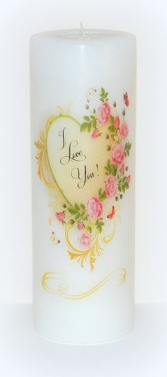 Valentine's candle Easter candle mother's by DesignsbyDMCandles