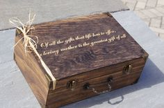 Hey, I found this really awesome Etsy listing at https://www.etsy.com/listing/229016317/rustic-personalized-large-gift-box