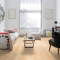 Quickstep Largo White Varnished Oak Laminate Flooring
