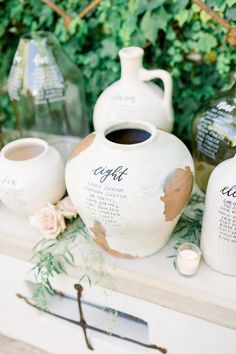ANDREA + JORDAN – Pirouette Paper ANDREA + JORDAN Garden wedding at Villa San Juan Capistrano with lots of whites, greenery and neutrals. Ethereal and romantic vibes to resemble gardens of Italy inspired wedding! Pots, vase and vessels seating chart idea Seating Chart Wedding, Seating Charts, Star Wedding, Wedding Table, Wedding Ceremony, Reception, Wedding Calligraphy, Wedding Stationery, Event Planning