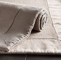 Linen-Bordered Turkish Bath Mat by Restoration Hardware