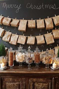 Inexpensive decor & garland ideas using paper lunch bags via Design Indulgences