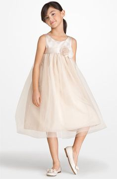 Us Angels Sleeveless Satin & Tulle Dress (Toddler, Little Girls & Big Girls) available at Nordstrom