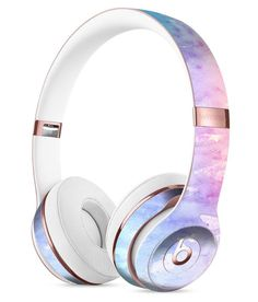 Washed Pink 4 Absorbed Watercolor Texture Full-Body Skin Kit for the Beats by Dre Solo 3 Wireless Headphones