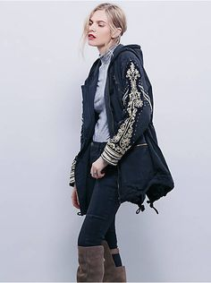 Free People Golden Quills Military Parka, $298.00