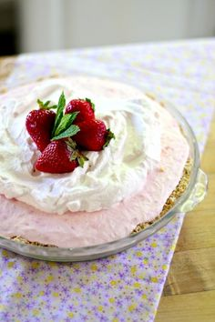 Strawberry and coconut icebox pie (I wouldn't use Stevia or coconut oil, but the rest sounds acceptable)