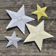 2013 Printable Ramadan Banner + Stars (Yellow + Grey)