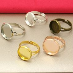 """10X Adjustable """"Y'shaped Ring Blank with inner 12mm Bezel Setting Tray for Cameo Cabochons Antique Bronze/Rhodium Silver/Gold"""