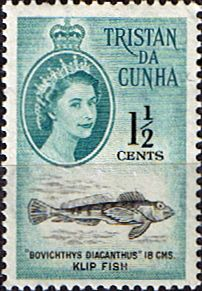 Tristan Da Cunha 1961 SG Scott 44 Klip Fish Fine Mint Other South Pacific and British Commonwealth Stamps HERE!