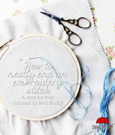 Have you ever wondered how to end your embroidery stitching neatly so you don't have a lumpy knot pushing through your beautiful embroidery work? Follow these easy step-by-step instructions to lear...