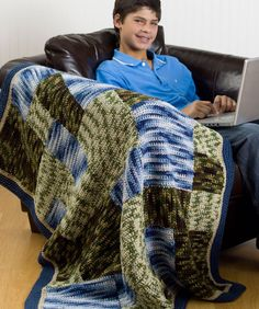 "Free pattern for ""Camouflage Patch Throw""!"