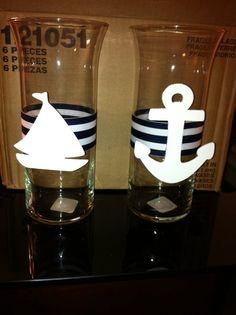 Nautical Centerpiece/Vase for Baby shower by FandJDivineDecor, $15.00