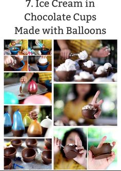Chocolate bowls from a balloon! Cool party idea