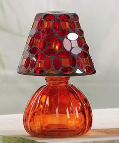Loving this Red Mosaic Lamp-Shape Tealight Holder on #zulily! #zulilyfinds