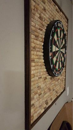 Wine Cork Dartboard Backer Protect your wall from stray darts w., Wine Cork Dartboard Backer Protect your wall from stray darts with this unique dartboard backer made with over 400 wine corks.