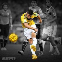 James Rodriguez, gol de Colombia gol de Colombia gooooooooooooooooooooollllllllllllllll gooooooooooooooooollllllllll de JAMES RODRÍGUEZ, COMO LE PAGASTE A ESA PELOTA JAMES RODRIGUEZ!!!!