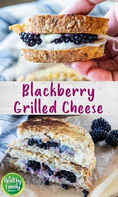 Sweeten up your grilled cheese with fresh blackberries! This fruity take on the classic will have kids asking for seconds. Yummy Treats, Yummy Food, Slice Of Bread, Super Healthy Recipes, Wrap Sandwiches, Blackberries, Spring Recipes, Perfect Food, Kid Friendly Meals